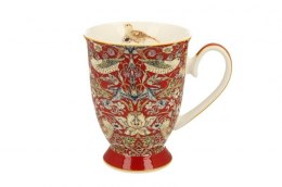 Kubek porcelanowy na stópce William Morris Red