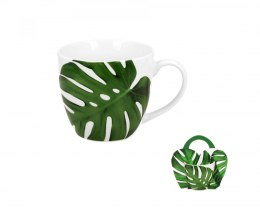 Kubek Monstera 460 ml z porcelany na prezent