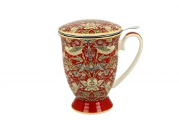 Kubek z sitkiem do herbaty William Morris Red