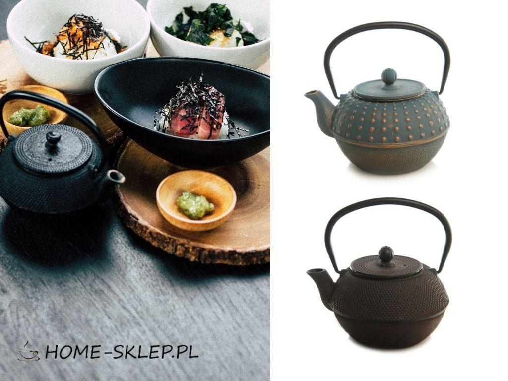 Żeliwny czajnik do parzenia herbaty