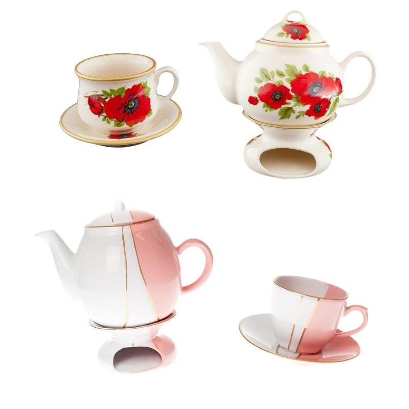 Dzbanek i kubek do parzenia herbaty